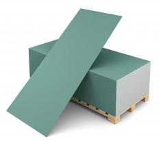Гипсокартонныйлист влагостойкийВолма, 3000х1200х12,5 мм