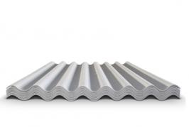 Шифер волновой серый 7 волн, 1750x970x5,2 мм
