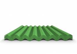 Шифер волновой зеленый 7 волн, 1750x970x5,8 мм
