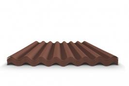 Шифер волновой коричневый 7 волн, 1750x970x5,8 мм