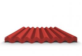 Шифер волновой красный 8 волн, 1750x1130x5,8 мм