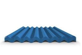 Шифер волновой синий 8 волн, 1750x1130x5,2 мм