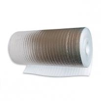 Вспененный (газонаполненный) полиэтилен Тепофол НПЭ фольгированный односторонний (25000х1200х2 мм)