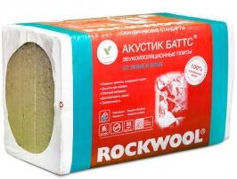 Базальтовая вата Rockwool Акустик Баттс, 1000х600х100 мм (3 м2/5 шт)