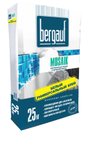 Клей белый для прозрачной плитки и мозаики Bergauf Mosaik, 25 кг