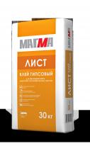 Клей гипсовый МАГМА-Лист, 30 кг