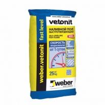 Наливной пол Weber-Vetonit fast level, 20 кг