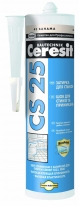 Затирка-герметик силиконовая CERESIT CS 25, 280 мл (серебристо-серая)