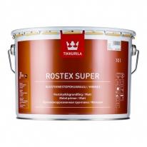 Грунт антикоррозийный черный Tikkurila Rostex Super 3 л