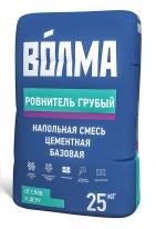 Смесь цементная напольная базовая ВОЛМА Ровнитель Грубый, 25 кг
