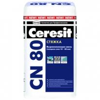 Стяжка для базового выравнивания (от 10 до 80 мм) CERESIT CN 80, 25 кг