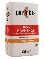 Наливной пол тонкослойный Perfekta Цементный, 25 кг