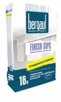 Шпаклевка белая гипсовая для заделки швов ГКЛ Bergauf Finish Gips, 18 кг