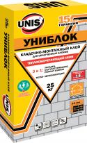 Клей кладочно-монтажный ЮНИС Униблок, 25 кг