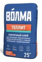 Клей для горизонтальных и вертикальных поверхностей ВОЛМА-Теплит, 25 кг
