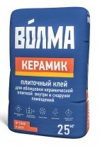 Клей плиточный для керамической плитки ВОЛМА-Керамик, 25 кг