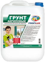 Грунт акриловый для внутренних работ зеленая эт Profilux PL 16 A 5 л