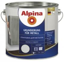 Грунтовка по металлу антикоррозийная серая Alpina 2,5 л