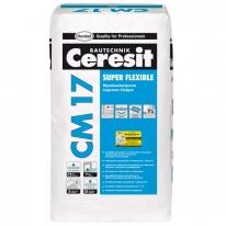 Клей плиточный высокоэластичный CERESIT CM 17, 25 кг