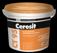 Шпаклевка готовая белая финишная полимерная CERESIT CT 95 ЗИМА, 25 кг