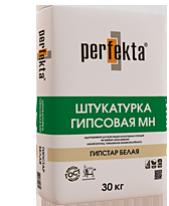 Штукатурка гипсовая МАШИННОГО и РУЧНОГО нанесения Perfekta Гипстар Белая, 30 кг
