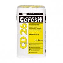 Смесь крупнозернистая для ремонта бетона CERESIT CD 26 (толщина 30-100 мм), 25 кг
