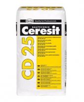 Смесь мелкозернистая для ремонта бетона CERESIT CD 25 (толщина 5-30 мм), 25 кг