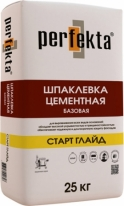 Шпаклевка цементная базовая Perfekta СТАРТ ГЛАЙД, 25 кг