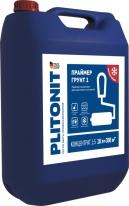 Праймер-концентрат акрилатный для внутренних и наружных работ ПЛИТОНИТ Грунт 1, 10 л