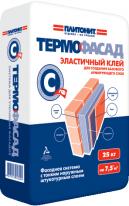 Клей эластичный для создания базового армирующего слоя ПЛИТОНИТ-ТермоФасад С-тф, 25 кг