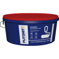 Адгезионный праймер для подготовки слабовпитывающих оснований ПЛИТОНИТ Грунт БетонКонтакт, 15 кг