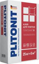 Клей для керамической и керамогранитной плитки ПЛИТОНИТ В, 25 кг