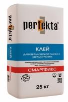 Клей для керамической плитки и керамогранита Perfekta СМАРТФИКС, 25 кг