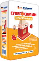 Клей термостойкий для облицовки печей и каминов ПЛИТОНИТ-СуперКамин ТермоКлей (Вт), 25 кг