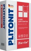 Клей для керамической и керамогранитной плитки, толстослойный ПЛИТОНИТ В максислой, 25 кг