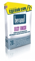 Шпаклевка белая цментная для внутренних и наружных работ Bergauf Easy Finish, 20 кг