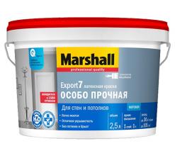 Краска моющаяся, матовая белый Marshall Export 7 9 л (база BW)