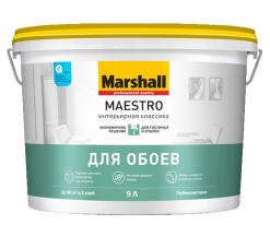 Краска для сухих помещений Интерьерная классика белый Marshall Maestro 9 л матовая (база BW)