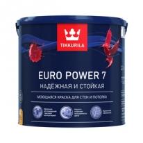 Краска матовая моющаяся бесцветный Tikkurila Finncolor Euro Power 7 9 л (база С)