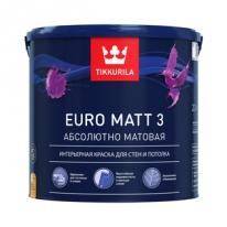 Краска глубоко матовая латексная бесцветный Tikkurila Finncolor Euro 3 2,7 л (база С)