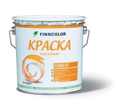 Краска по дереву для внутренних и наружных работ белый Tikkurila Finncolor Forest 9 л (база С)