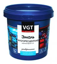 Эмаль универсальная флуоресцентная светоотражающая VGT ВД АК 1179 1 кг (оранжево-красная)
