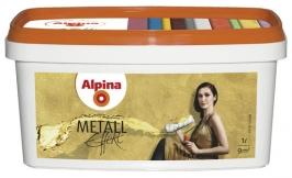 Краска водорастворимая с металическим эффектом Alpina Metall Effekt 1 л (silber)