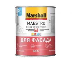 Краска для фасада акриловая Marshall Maestro 9 л матовая (база ВС)