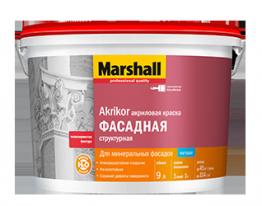 Краска Фасадная Структурная Marshall Akrikor 9 л (BW)