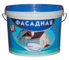 Краска акриловая Фасадная Гермес Respect 40 кг
