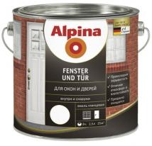 Эмаль для окон и дверей Alpina Fenster Und Tur 2,5 л