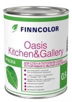 Краска устойчивая к мытью матовая Tikkurila Finncolor Oasis Kitchen&Gallery 2,7 л (база С)