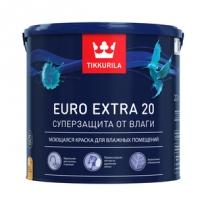 Краска для влажных помещений, полуматовая белый Tikkurila Finncolor Euro Extra 20 9 л (база А)