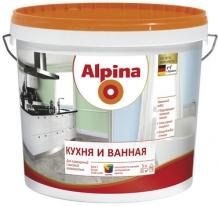 Краска полуматовая для влажных помещений Alpina 5 л